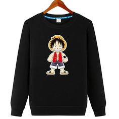 New 2017 Men Women Hoodies Anime One Piece Luffy Printed Cotton Sweatshirts Jacket DIY Custom Pattern S-5XL Casual Loose Lovers -*- AliExpress Affiliate's buyable pin. Item can be found  on www.aliexpress.com by clicking the image