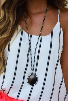 Falling From The Sky Necklace: Gray #shophopes