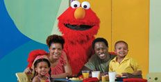 Breakfast with Elmo and Friends....What goes great with your morning eggs? How about lots of hugs from Elmo and his furry friends? Start your day with this fun-filled experience sure to delight kids and parents alike. Breakfast with Elmo and Friends offers a delicious buffet enjoyed with the hottest characters in town that gives you and your family an exclusive, up-close opportunity to spend some quality time with Elmo and all his friends. (Seasonal Dining Experience.)