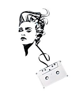 Madonna - Magnificent Cassette Art by Erika Iris Simmons Jimi Hendrix, Bob Marley, Madonna Tattoo, Beatles, Cassette Tape Art, Iris, Tapas, Retro, Ghost In The Machine