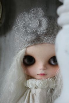 Silver mohair hat