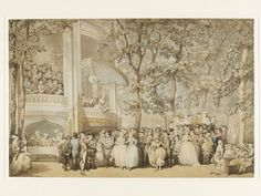 Thomas Rowlandson, 'Vauxhall Gardens', c.1784. V&A (see also engraving (copy) held by Museum of London). To the right of the group, Mary stands in flirtatious conference with the Prince of Wales, whilst her husband stands to her other side (crippled and cuckolded).