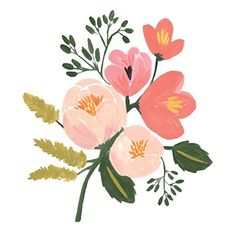 Draw Roses Rose Botanical by Rifle Paper Co. - It's always springtime any time of year with these colorful roses in a room. The artwork is reproduced on archival stock from a hand-painted gouache illustration created by Rifle Paper Co. Art Et Illustration, Floral Illustrations, Botanical Illustration, Illustrations Posters, Watercolor Flowers, Watercolor Art, Painting Flowers, Impressions Botaniques, Posca Art
