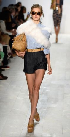 Fancy fur at the #MichaelKors #nyfw runway show for 2014