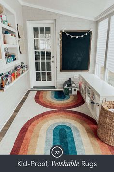Little kids can make big messes. Ruggable has got you covered with machine washable rugs that are both stylish and functional. Décor Boho, Big Girl Rooms, Kids Rooms, Play Houses, My Dream Home, Decoration, Home Projects, Future House, Family Room