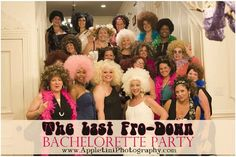 Best Bachelorette Party theme.  The Last Fro-Down.  Great party idea!!  So much fun!
