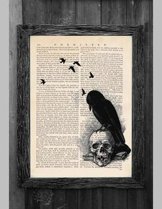 Edgar Allen Poe's The Raven Collage Print on an by AvantPrint, $8.00