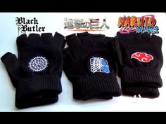 Anime Fingerless Gloves Naruto Black Butler Attack On Titan: http://youtu.be/zNcYf0hoTqE
