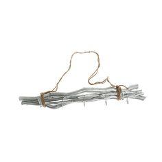 Colgador con 5 ganchos en forma de ramas. Disponible también en blanco y dorado.