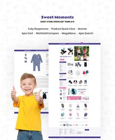 OpenCart Template , WholeSale - Baby Store