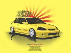 Honda Civic 6 gen by erithdorPL.deviantart.com on @DeviantArt