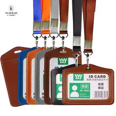 Name Credit Card Holders Women Men PU Bank Card Neck Strap Card Bus ID holders candy colors Identity badge with lanyard - FASHION BookFace - Leading Global Online Shopping Site Id Badge Holders, Id Holder, Card Holders, Bags Travel, Bank Card, Artificial Leather, Candy Colors, 1 Piece, Luggage Bags