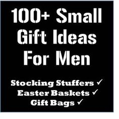 lots of stocking stuffer ideas...I think instead of a traditional christmas present this year I'll just get him a stocking and fill it with goodies :)