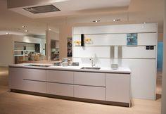 Crystal White Matt Glass German Designer Kitchen