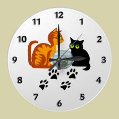 Cats At Play Wall Clock