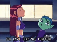 idek teen titans starfire beast boy beastboy by lastofthetimeladies **gif for some reason i have a lot of difficulty coloring animated caps *teen titans this is one of my favorite little moments on this show p.s. i'm watching a bunch of these tonight and there will probably be terra gifs and also terra creys
