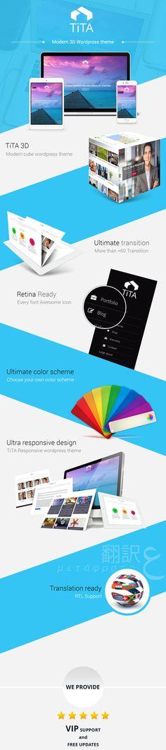 Tita 3D – Modern & Unique WordPress Theme