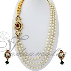 Pearls design side pendant  http://www.vadaamalar.com/single-side-pendant-step-necklace-5168.html