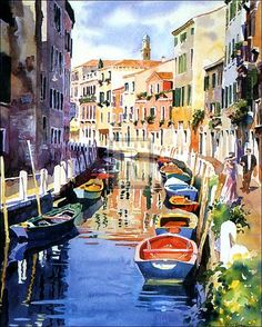 The colors are what draw the viewer in and the details keep their attention (watercolor by Hazel Soan)