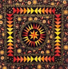 A sparkling and vibrant 'Happiness' quilt by Lisa Richards McCarthy; design by Jacqueline de Jonge ©BeColourful