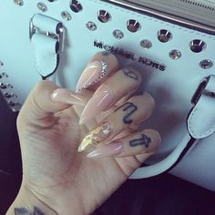 Nude with gold flakes. I have ones like this now :) you can get gold flakes at michaels.