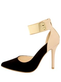 Color Block Heels With Luxe Ankle Strap
