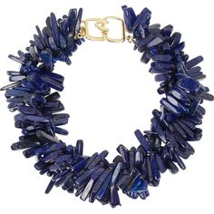Kenneth Jay Lane Lapis lazuli necklace (735 BRL) ❤ liked on Polyvore featuring jewelry, necklaces, jewels, accessories, blue, kenneth jay lane jewelry, kenneth jay lane, blue necklace, jewel necklace and lapis lazuli necklace