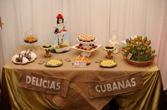 Love the Banner to add to the food table Havana Nights #sweets #dessert table