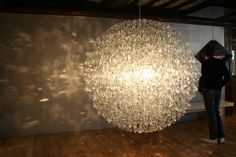 Eyeglass lens chandelier