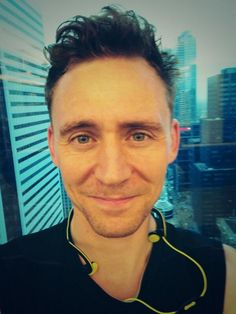 "Tom Hiddleston: ""Morning all. Having such a wonderful time in Toronto. I love this city."" via Twitter"