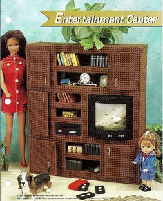 Barbie Furniture Plastic Canvas Pattern by grammysyarngarden