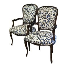 Bergere Dining Chairs Ivory Rosette Chair Covers 91 Best Images In 2019 Armchair Armchairs Blue Leopard A Pair Patio Metal Outdoor