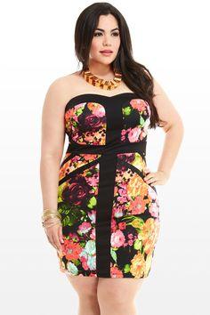 Secret Garden Strapless Dress
