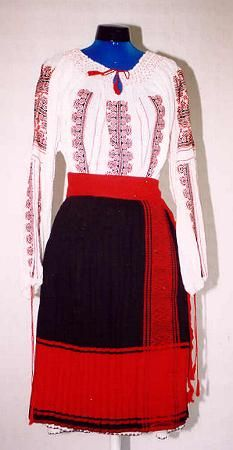 Women's costume from county of Prahova