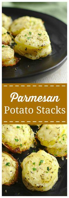 Parmesan Potato Stac