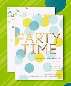 It's party time! Pop the champagne and find a party invitation that fits your personality. | Tiny Prints