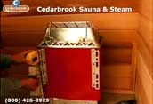 Measure the distance from the floor to sauna heaters mounting brackets