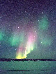 Dancing with the light. Yellowknife Aurora Borealis