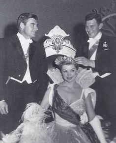 John Bromfield, Esther Williams, and Andy Griffith at the 1958 Azalea Festival coronation (photo courtesy of the North Carolina Azalea Festival)