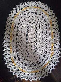 Crochet Boarders, Crochet Rug Patterns, Christmas Crochet Patterns, Knitting Patterns, Crochet Home, Diy Crochet, Crochet Doilies, Crochet Flowers, Vintage Embroidery