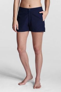 Women's Regular Beach Living Woven Swim Shorts from Lands' End