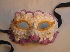 flower petal half-mask