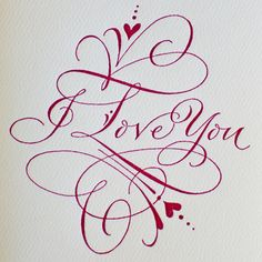 PG434-I LOVE YOU CALLIGRAPHY...