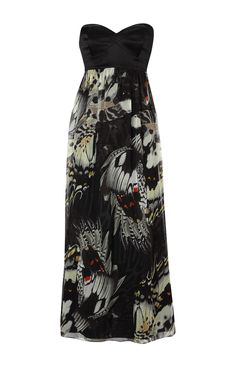 Karen Millen Butterfly Print Maxi Dress Multicolour - Chic Dresses and beautiful Skirts