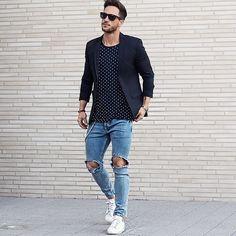 Macho Moda - Blog de Moda Masculina: Calça Rasgada Masculina (Destroyed Jeans), pra inspirar!