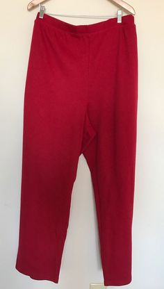 Liz&me For CATHERINE S PLUS SIZE 4X 30/32W Cotton Casual Pant Red Bottom Knit NW  | eBay