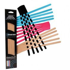 Kinesio Classic Fan Cuts - Pack of 12: simple and effective way to reduce swelling, bruising, and even the severe swelling associated with lymphedema