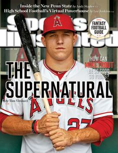 YES! - Mike Trout, Baseball, Los Angeles Angels of Anaheim #Angels #Halos #GreatCover