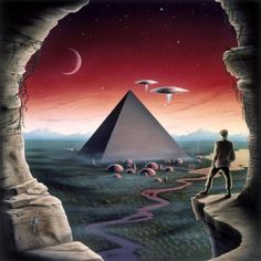 Alien Pyramid by Hovering 2000 Arte Sci Fi, Aliens Und Ufos, Ancient Aliens, Sci Fi Kunst, Science Fiction Kunst, 70s Sci Fi Art, Templer, Psy Art, Alien Art