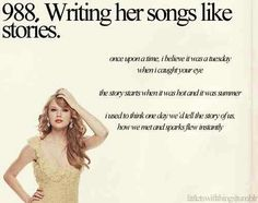 Writing her songs like stories.